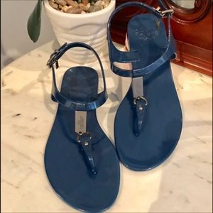 🆕Coack Navy Plato jelly sandals